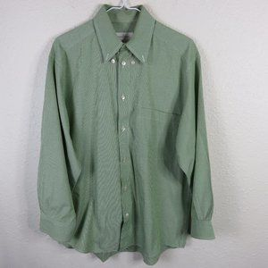 Ermenegildo Zegna Green Patterned Dress Shirt